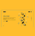 welcome web page isometric vector image vector image