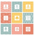 yoga icons and line badges graphic design vector image vector image