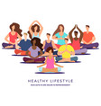 yoga or pilates class vector image