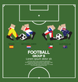 Group B 2014 Football Tournament vector image