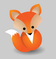 image of a fox design vector image