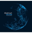 Abstract glowing sphere Futuristic techno vector image
