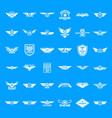 airforce army badge logo icons set simple style vector image vector image