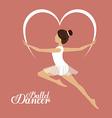 Ballet dance design vector image vector image