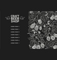 beer menu design template retro beer background vector image vector image