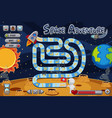 boardgame template with astronaut on moon vector image vector image