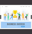 business people success concept leadership vector image