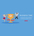business time banner profitable website vector image vector image