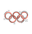 cartoon olympic games rings icon in comic style vector image