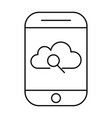 cloud storage search using smartphone mobile vector image vector image