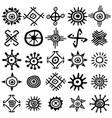 collection of sun symbols vector image vector image