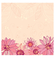 cute flowers background vector image vector image