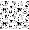 dogs pattern french bulldog seamless texture vector image