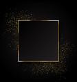 elegant gold glitter background vector image vector image