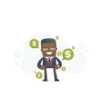 expensive clothes and accessories at a successful vector image vector image