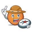 explorer cookies mascot cartoon style vector image vector image