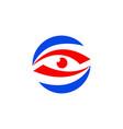 eye logotype design artwork design business vector image vector image