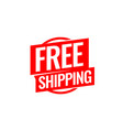 free shipping symbol flat style vector image