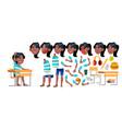 girl schoolgirl kid black afro american vector image vector image