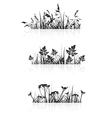 Grass Banner Silhouette vector image