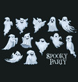 halloween scary ghosts spooky party vector image