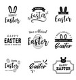happy easter lettering logo collection vector image vector image