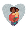 happy mothers day greeting card i love you mom vector image vector image