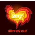 happy new year 2017 red rooster vector image vector image