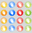 Human heart icon sign Big set of 16 colorful vector image vector image