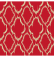 Ikat quatrefoil seamless pattern vector image vector image