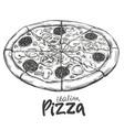 italian pizza pizza design template logo hand vector image vector image