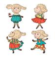 Lambs vector image