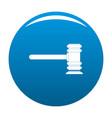 legislation icon blue vector image vector image