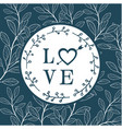 love arrow heart circle leaves green background ve vector image vector image