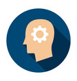 man head gear circle icon vector image