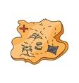 map treasure island vector image
