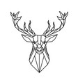 modern geometry reindeer design tattoo imag vector image