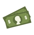 Money and investment isolated flat icon vector image vector image
