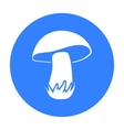 Mushroom icon in black style for web vector image vector image
