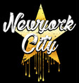 newyork typography graphic design vector image vector image