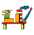oil refinery icon icon cartoon vector image