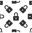 open padlock icon iseamless pattern lock symbol vector image