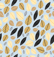 pattern of autumn leaves vector image vector image