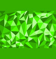 polygon pattern green beautiful background vector image vector image