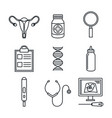 pregnancy maternity medical equipment elements vector image vector image