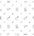 private icons pattern seamless white background vector image vector image