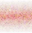 repeating horizontal red heart background pattern vector image vector image