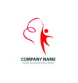Rhythmic Gymnastics Logo Icon Graphic