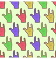 Rock hands colorful seamless pattern vector image vector image