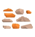 Rocks and stones vector image vector image